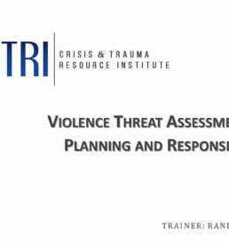 Image of Violence Threat Assessment webinar