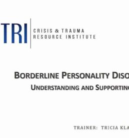 Image of Borderline Personality disorder webinar