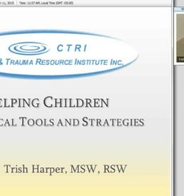IMage of Helping children webinar