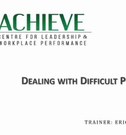 Image of Dealing with Difficult People webinar