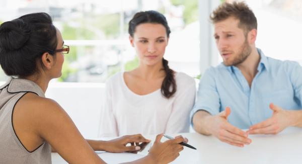 Mediation - Facilitating Conflict Resolution image of couple in counselling