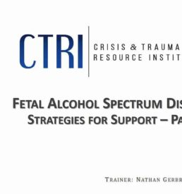 Image of Fetal Alcohol Spectrum Disorder webinar