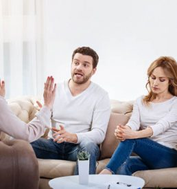 The Ethics of helping photo of therapist interrupting couple in therapy