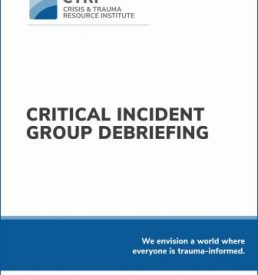 On-Demand manual cover for Critical Incident Group Debriefing
