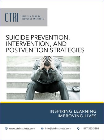 E-Manual cover Suicide Prevention, Intervention and Postvention workshop