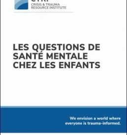 Mental Health Concerns in Children and Youth - FRENCH manual cover image