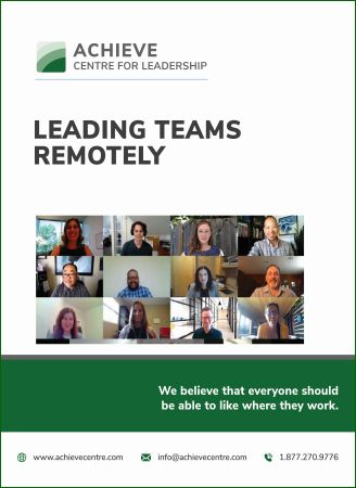 Leading Teams Remotely ACHIEVE Centre for Leadership manual cover image