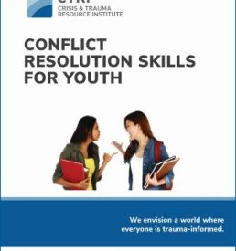 Conflict resolution skills for youth manual cover photo, CTRI