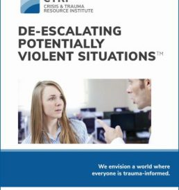 Manual cover of De-escalating Potentially Violent Situations™