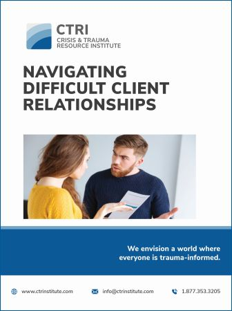 Manual cover for Navigating Difficult Clients workshop