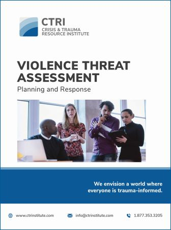 Photo of Violence Threat Assessment manual cover