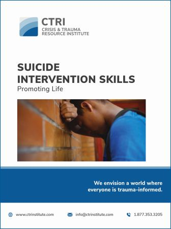 Suicide Intervention skills image of manual cover